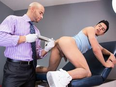 Hot Dr. Sean Zevran's frequent patient, Armond Rizzo is waiting for him in the examination room. When the doctor inquires about his medical chall