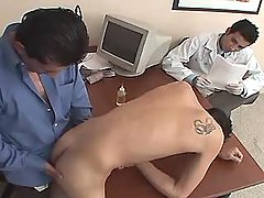 Mature gay fingering boy and cums on ass