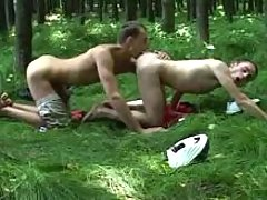 Hiding in forest for anal